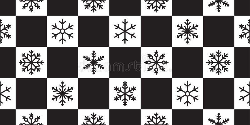 Snowflake motif continu vectoriel neige neige Noël Noël Noël Noël Noël Noël clairvoyé foulard tapisserie isolée illustration gi illustration libre de droits