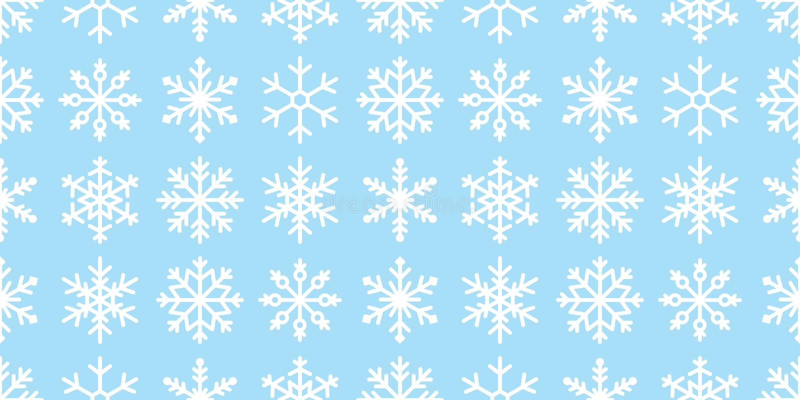 Snowflake motif continu vectoriel neige neige Noël Foulard de Noël Foulard de Noël Papier peint isolé fond d'écran illustration c illustration libre de droits