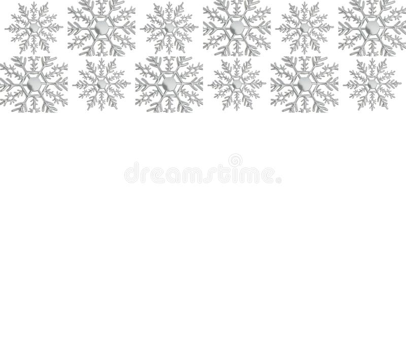 Snowflake ornament silver winter decemeber snow background card. Snowflake ornament winter decemeber snow object background christmas new year repetition card stock illustration