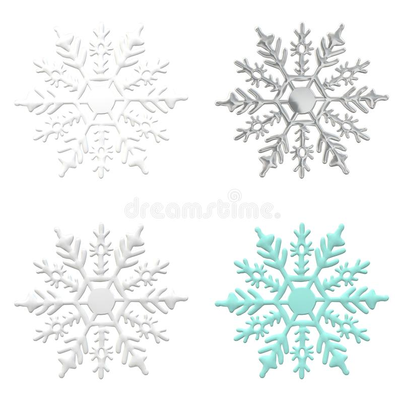 Snowflake ornament silver winter snow background card blue paper. Snowflake ornament winter decemeber snow object background christmas new year repetition card stock illustration