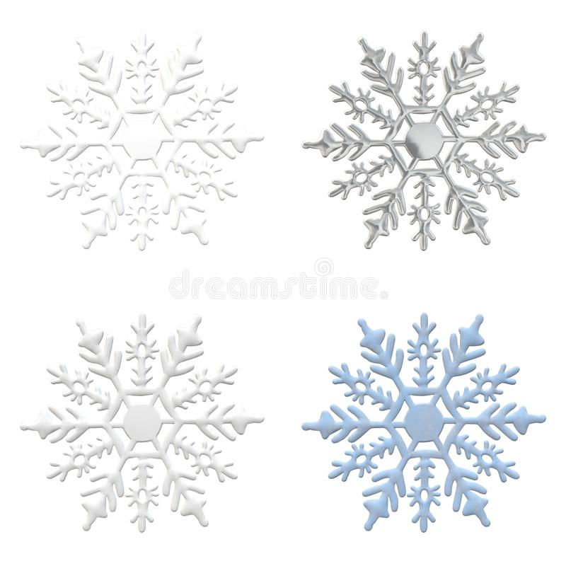 Snowflake ornament winter snow background silver blue. Snowflake ornament winter decemeber snow object background christmas new year repetition card white vector illustration