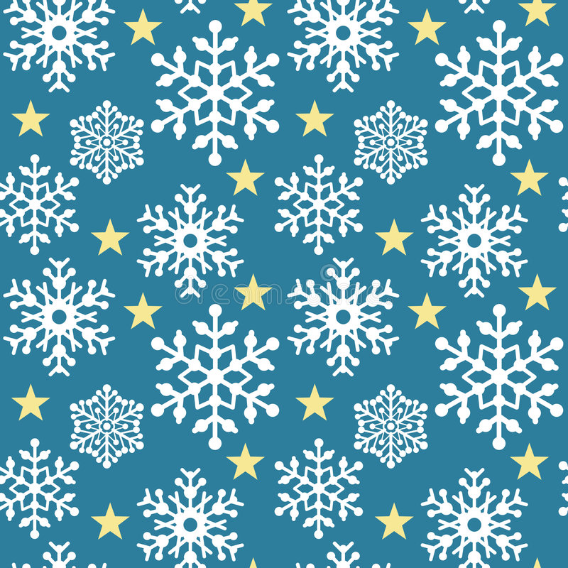 Download Snowflake Pattern_Blue stock vector. Image of repeating - 3021721
