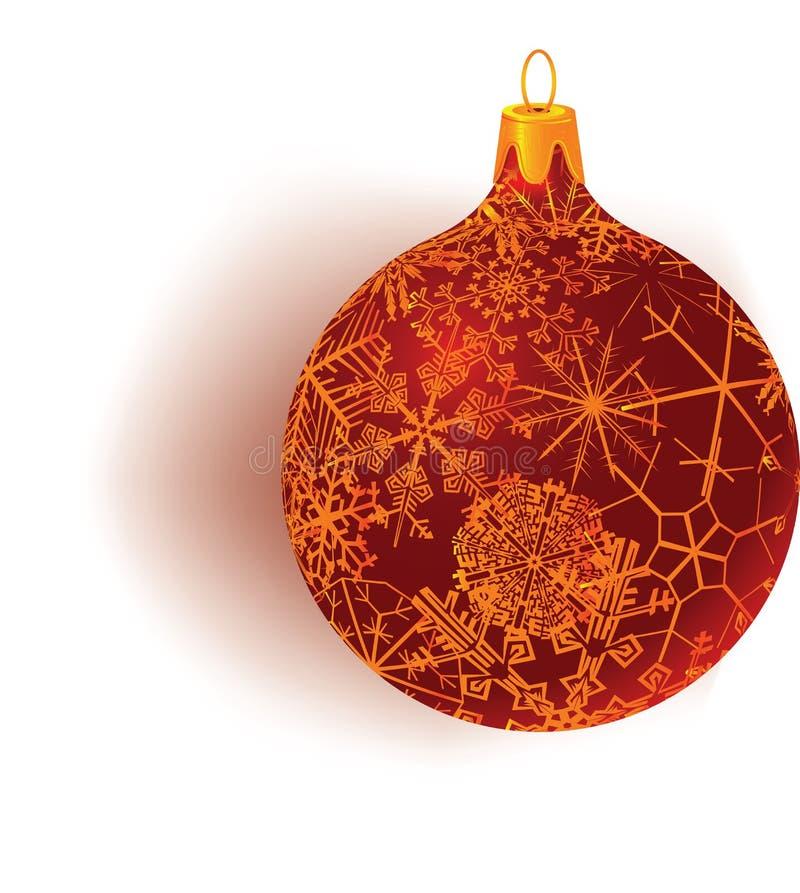 Snowflake patterned globe. Snowflake patterned christmas globe vector vector illustration