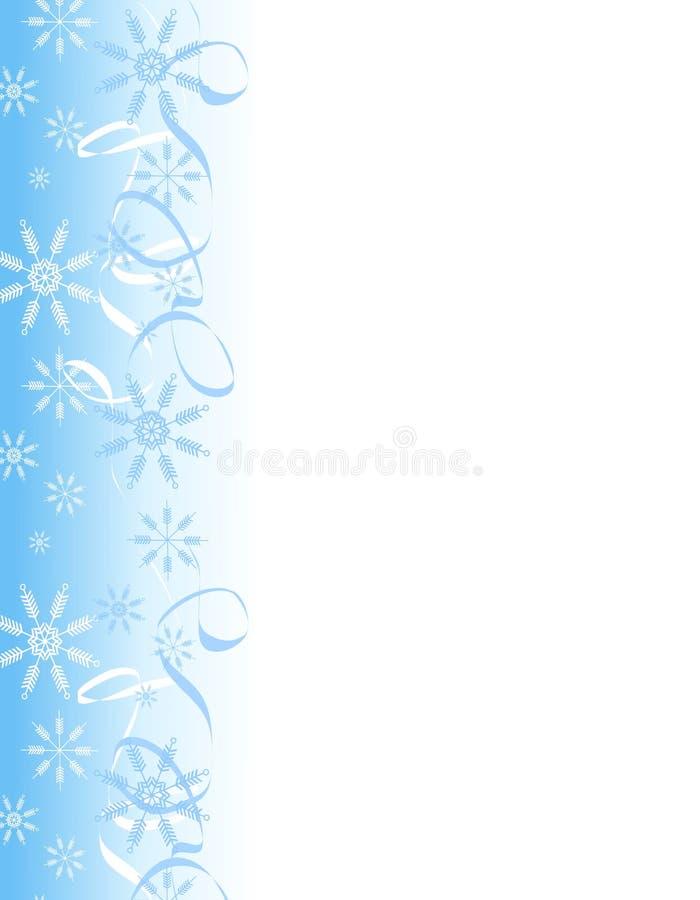 Snowflake Ribbons Border vector illustration