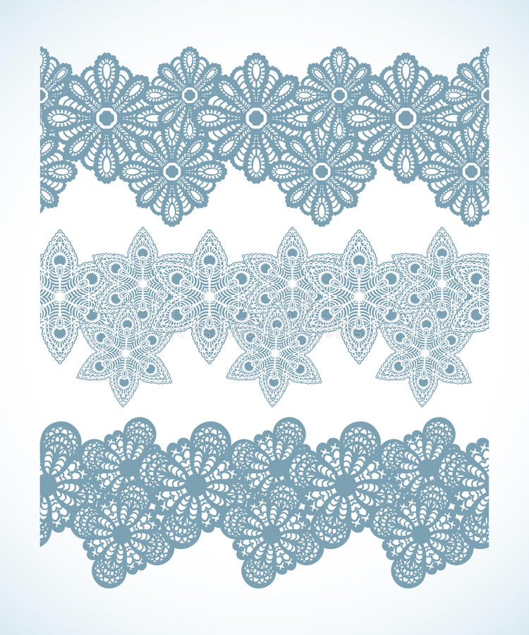 Download Snowflake Seamless Pattern Border Stock Vector - Illustration of group, ornament: 33846829