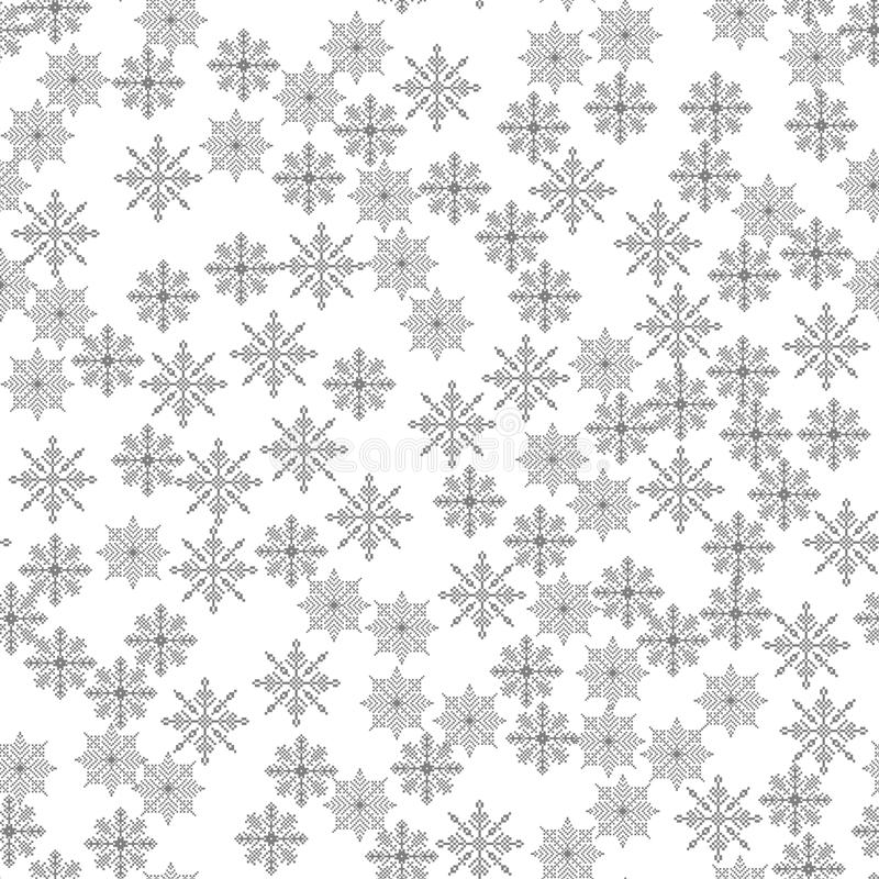 Snowflake seamless pattern Light Christmas background Vector illustration The theme of winter, new year, holiday stock illustration