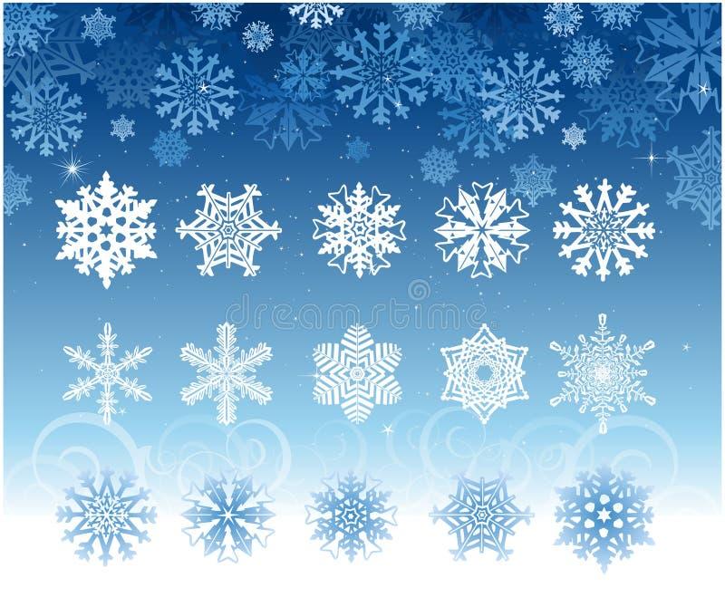 Snowflake set vector illustration