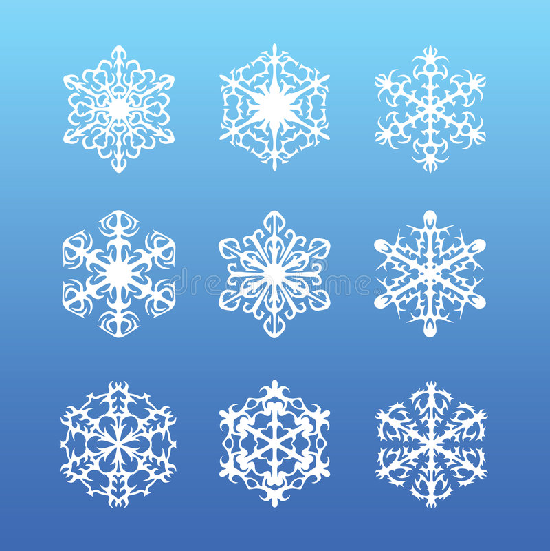 Snowflake set royalty free stock image