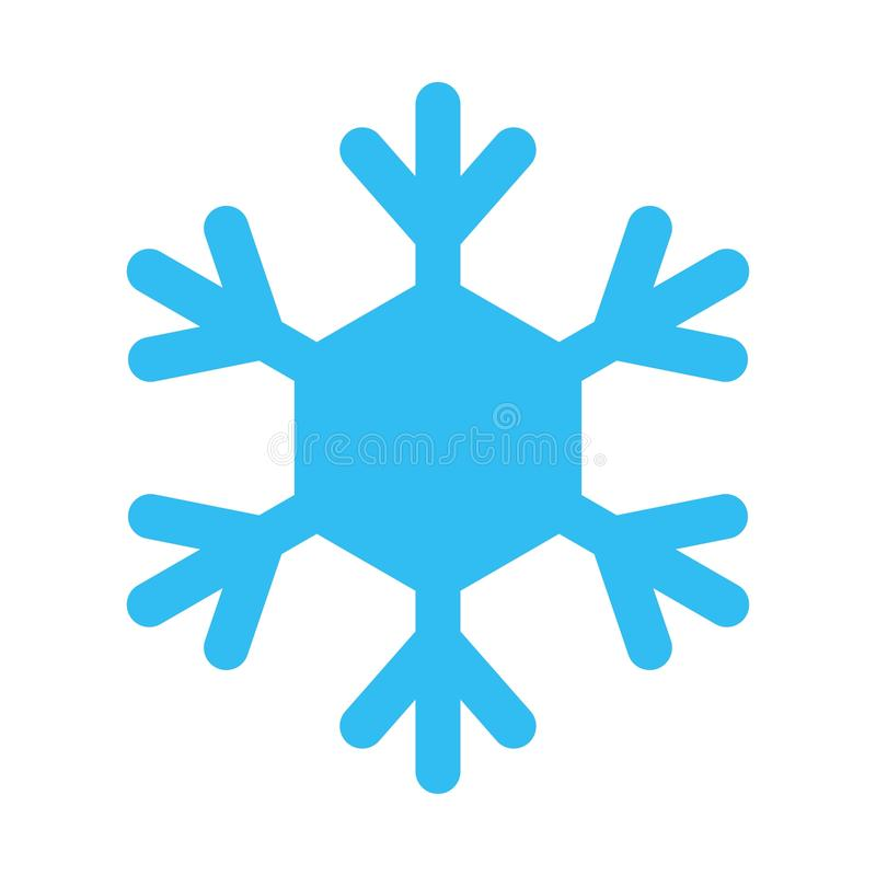 Free Snowflake Sign. Blue Snowflake Icon Isolated On White Background. Snow Flake Silhouette. Symbol Of Snow, Holiday, Cold Stock Photo - 158596920