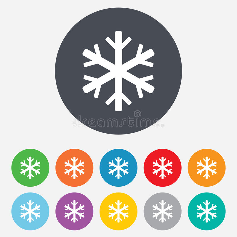 Snowflake sign icon. Air conditioning symbol. stock illustration