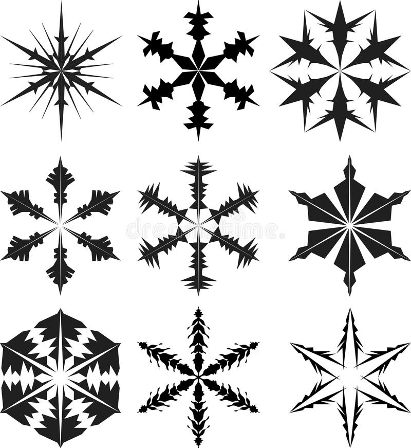 Download Snowflake silhouette stock vector. Illustration of clau - 20461169