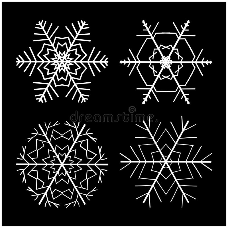 Snowflake Silhouette Icon Symbol Design Winter Christmas Vector