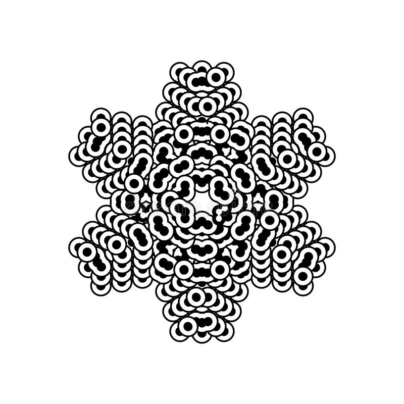 Snowflake simple icon isolated on white background. For winter design and decoration stock illustration