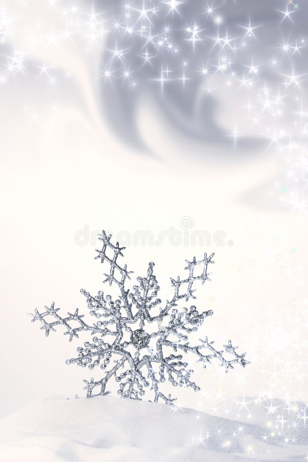 Download Snowflake In The Snow/ Blue Stock Image - Image of invitation, cold: 3709355