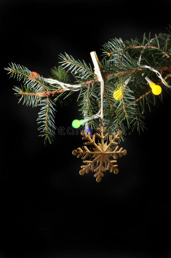 Download Decoration In Christmas Tree Stock Photo - Image of background, gold: 105387484