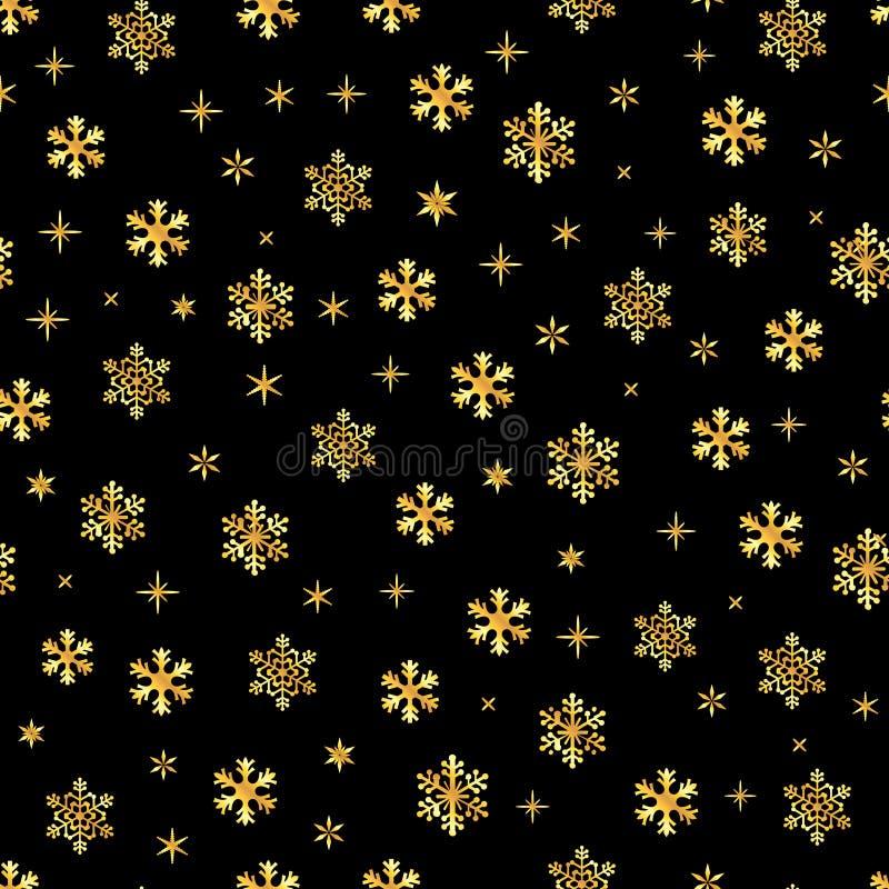 Snowflake symbol Christmas seamless pattern royalty free illustration