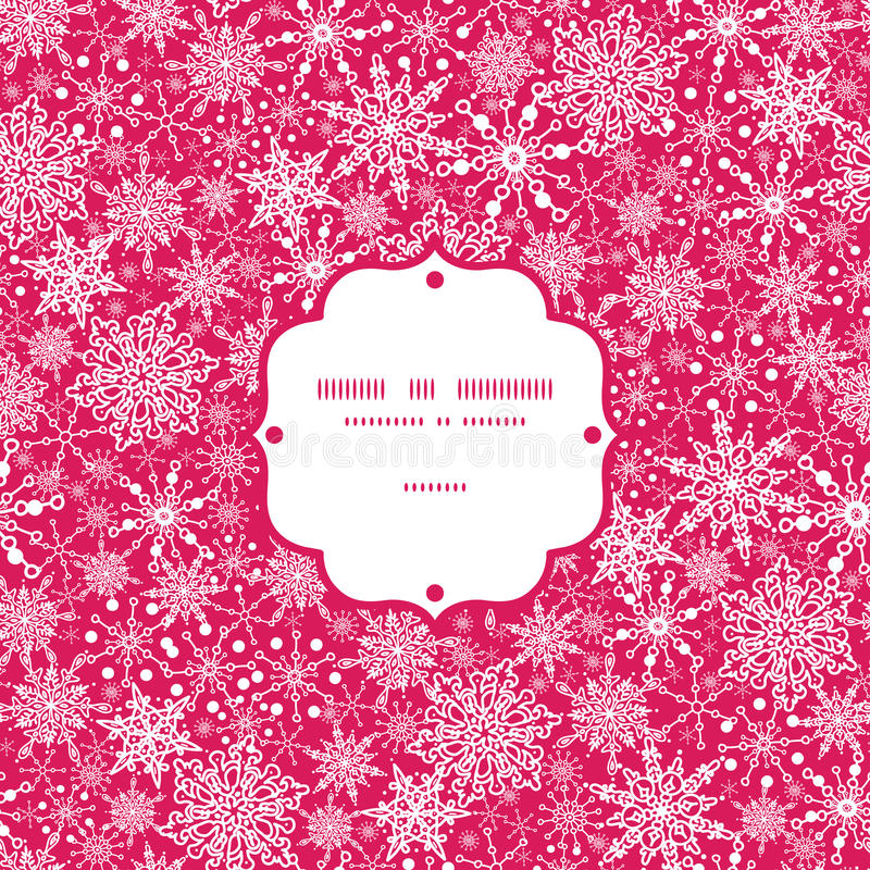 Download Snowflake Texture Frame Seamless Pattern Stock Vector - Illustration: 34147812