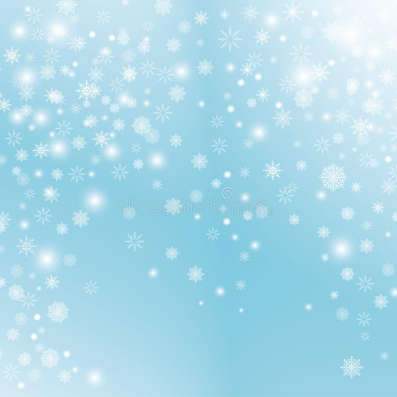 Snowflake transparent decoration effect. royalty free illustration