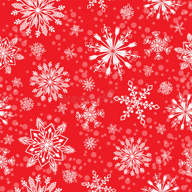 Download Snowflake Vector Seamless Pattern Weather Traditional Winter December Wrapping Paper Christmas Background. Stock Vector - Illustration of illustration, seamless: 96971196