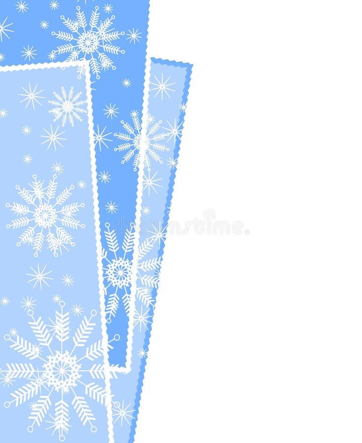 Snowflake Xmas Wrapping Border stock photography