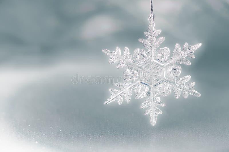Snowflakeferiebakgrund royaltyfri foto