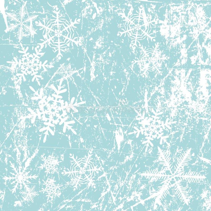 snowflakes ανασκόπησης χειμώνας ελεύθερη απεικόνιση δικαιώματος