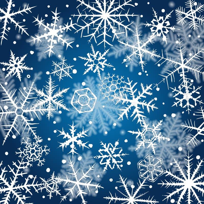 snowflakes απεικόνισης σχεδίου ανασκόπησης διακοσμητικό γραφικό διάνυσμα απεικόνιση αποθεμάτων