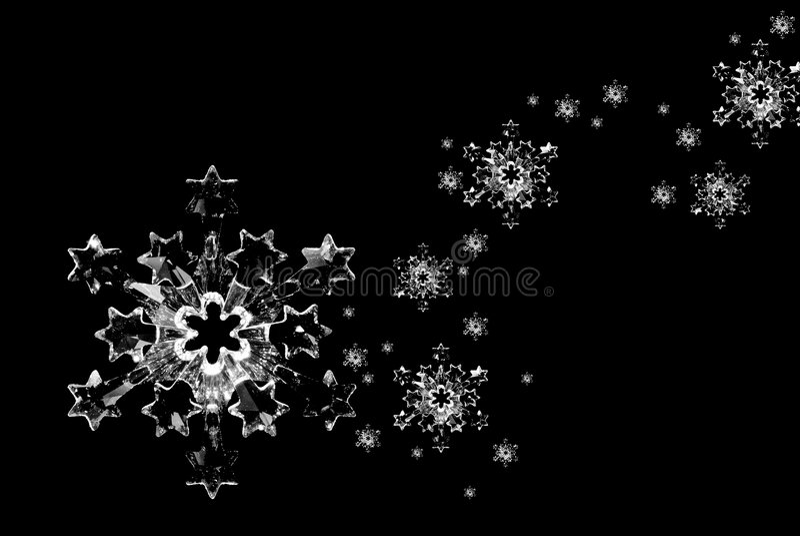 snowflakes γυαλιού κρυστάλλου ελεύθερη απεικόνιση δικαιώματος