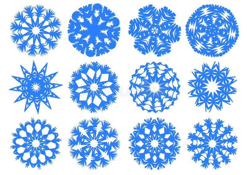 snowflakes εγγράφου ελεύθερη απεικόνιση δικαιώματος
