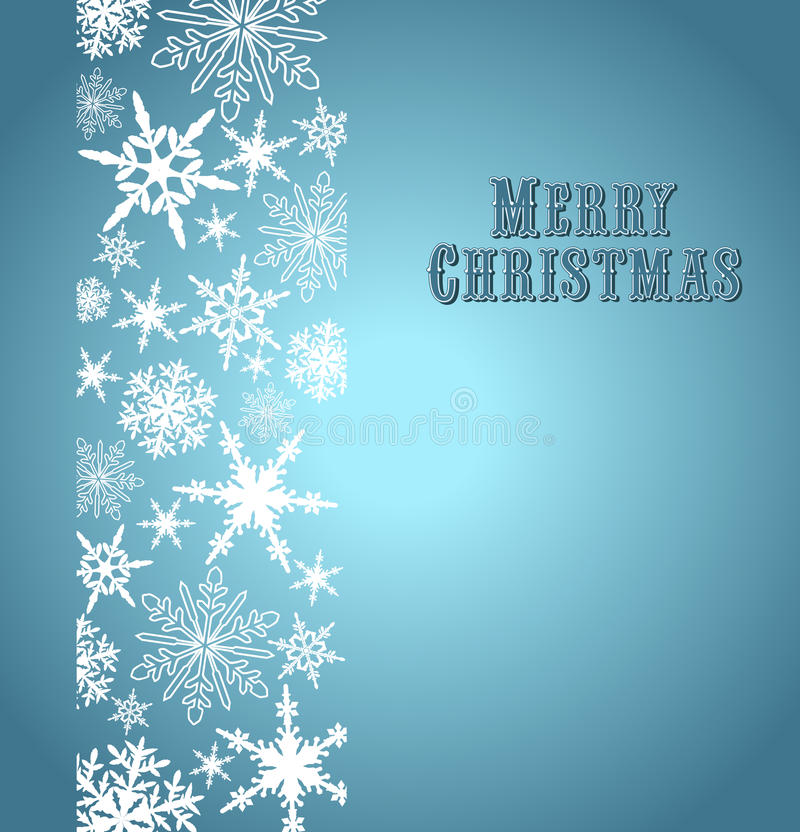 Snowflakes κάρτα Χαρούμενα Χριστούγεννας απεικόνιση αποθεμάτων