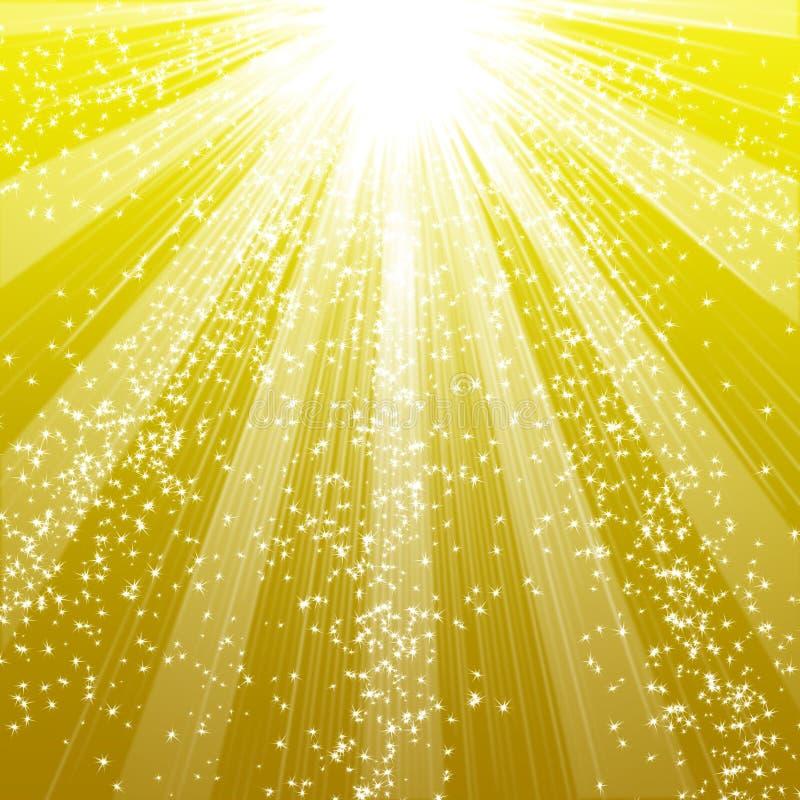 Snowflakes και αστεριών κατέβασμα ελεύθερη απεικόνιση δικαιώματος