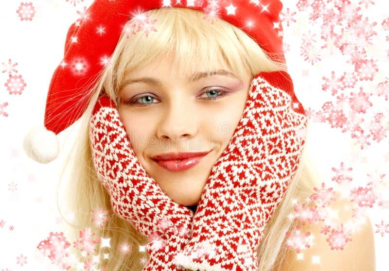 Download Snowflakes κοριτσιών Χριστουγέννων Στοκ Εικόνα - εικόνα από ομάδων, κομψός: 1532829