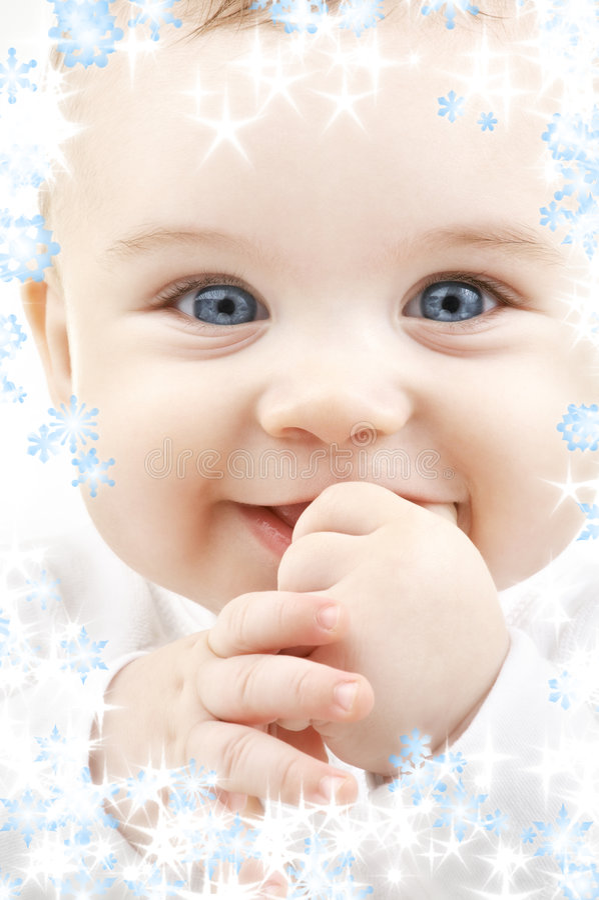 snowflakes μωρών στοκ εικόνες