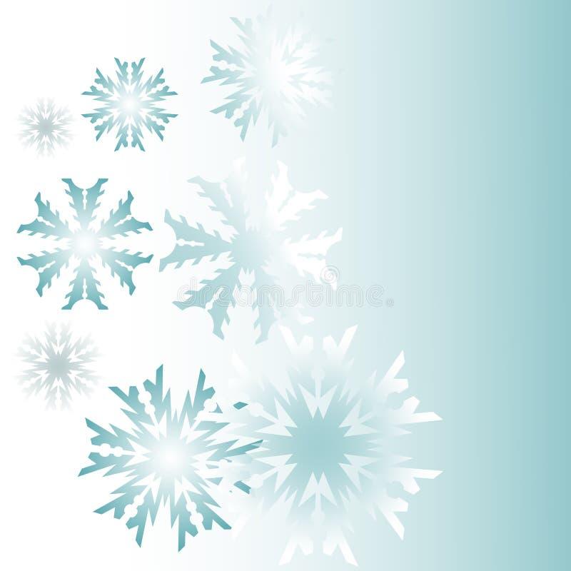 Snowflakes σε ένα μπλε υπόβαθρο απεικόνιση αποθεμάτων