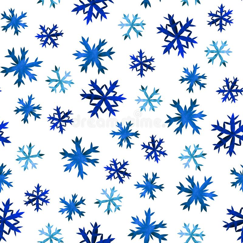 Snowflakes σχέδιο χεριών απεικόνιση αποθεμάτων