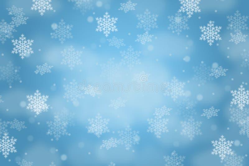 Snowflakes χιονιού διακοσμήσεων σχεδίων καρτών υποβάθρου Χριστουγέννων σπόλα διανυσματική απεικόνιση