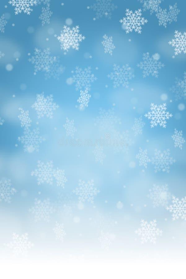 Snowflakes χιονιού διακοσμήσεων σχεδίων καρτών υποβάθρου Χριστουγέννων por ελεύθερη απεικόνιση δικαιώματος