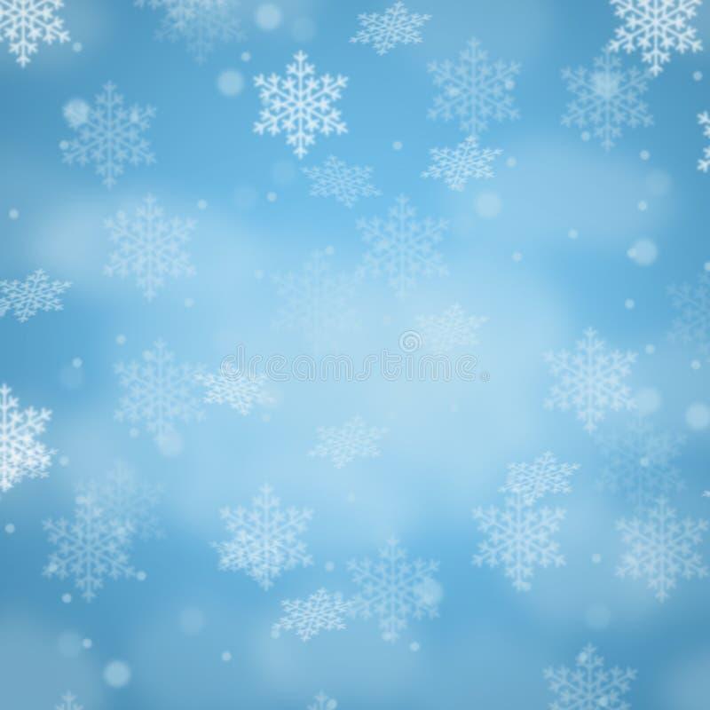 Snowflakes χιονιού διακοσμήσεων σχεδίων καρτών υποβάθρου Χριστουγέννων squ ελεύθερη απεικόνιση δικαιώματος