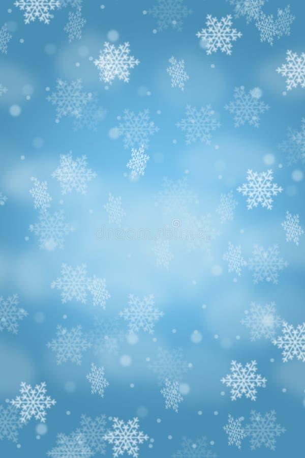 Snowflakes χιονιού σχεδίων καρτών υποβάθρου Χριστουγέννων σχήμα πορτρέτου copyspace που χιονίζει διανυσματική απεικόνιση