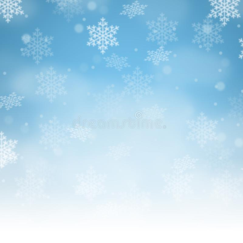 Snowflakes χιονιού σχεδίων καρτών υποβάθρου Χριστουγέννων τετραγωνικό διάστημα αντιγράφων copyspace απεικόνιση αποθεμάτων