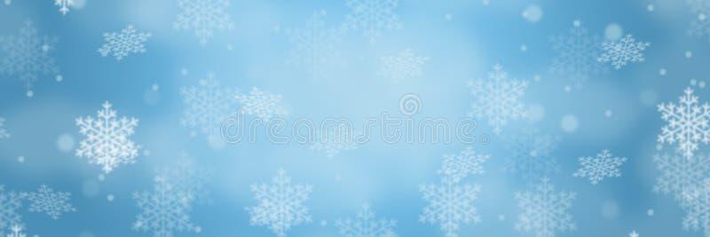 Snowflakes χιονιού χειμερινών σχεδίων συνόρων εμβλημάτων υποβάθρου Χριστουγέννων copyspace διάστημα αντιγράφων απεικόνιση αποθεμάτων