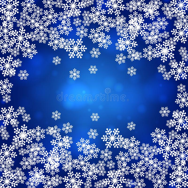Snowflakes Χριστουγέννων κενή διανυσματική απεικόνιση πλαισίων διανυσματική απεικόνιση
