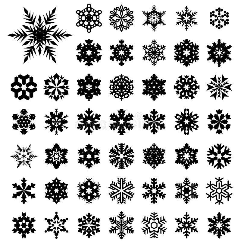 snowflakes royaltyfri illustrationer
