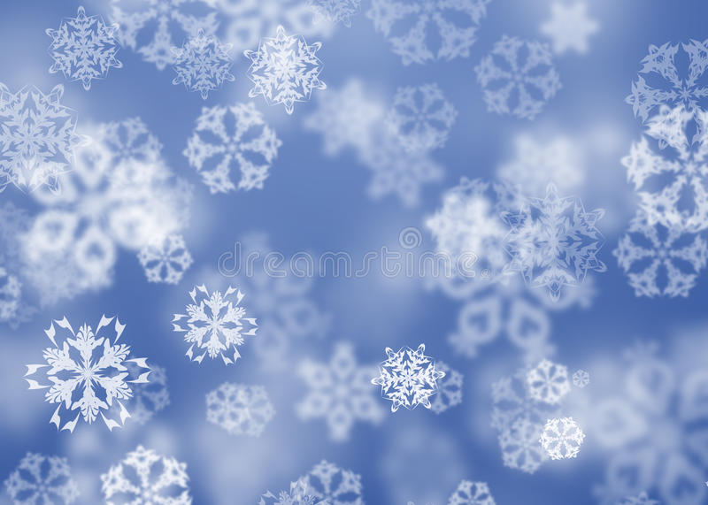 Snowflakes. Winter Christmas background with snowflakes vector illustration
