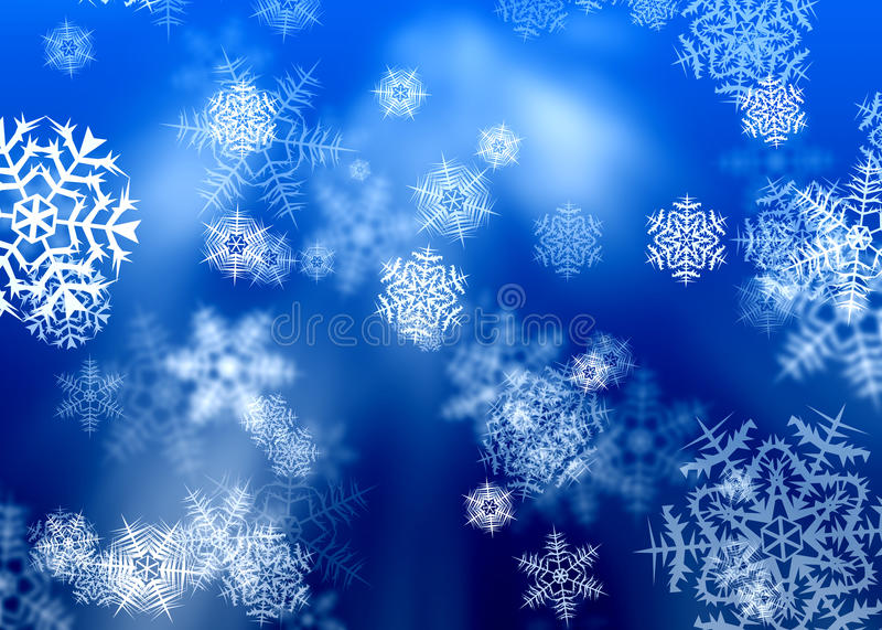 Snowflakes. Winter Christmas background with snowflakes stock illustration