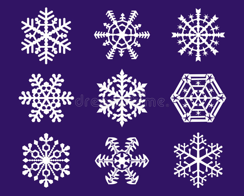 Download Snowflakes stock vector. Illustration of graphic, elements - 14195640