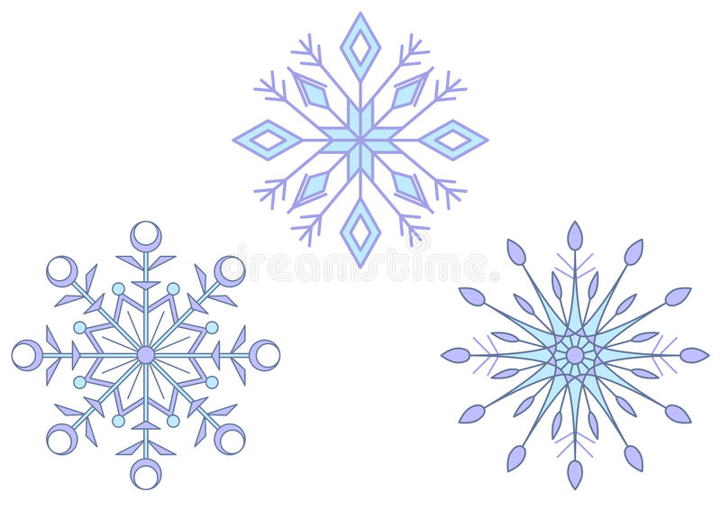 Download Snowflakes stock vector. Illustration of abstract, confetti - 15321581