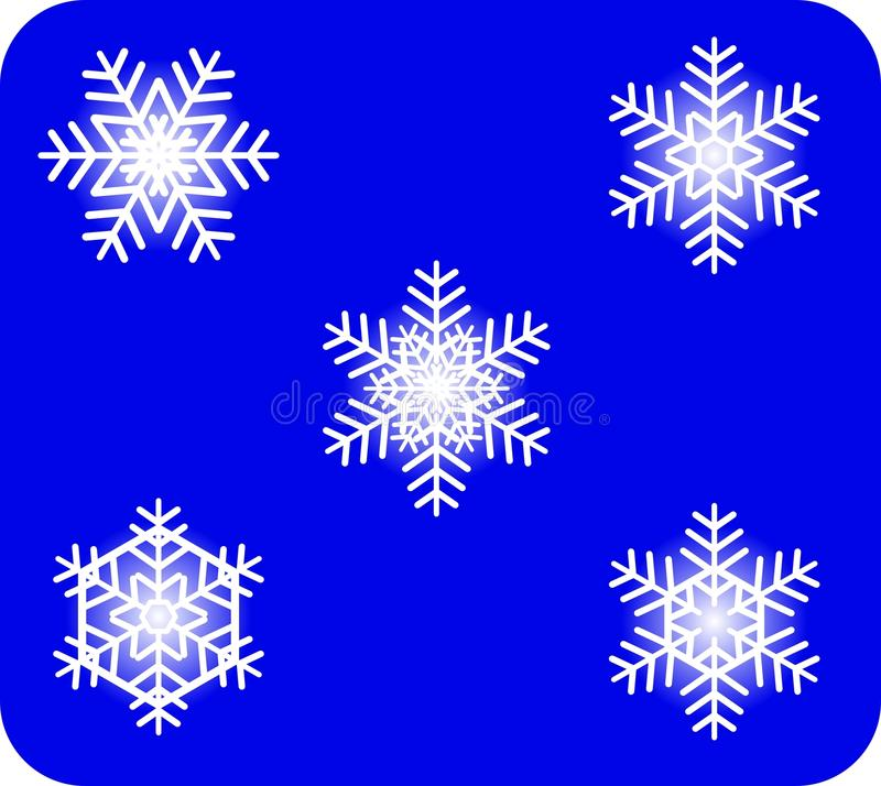 Download Snowflakes stock vector. Image of cold, vector, postcard - 21516027