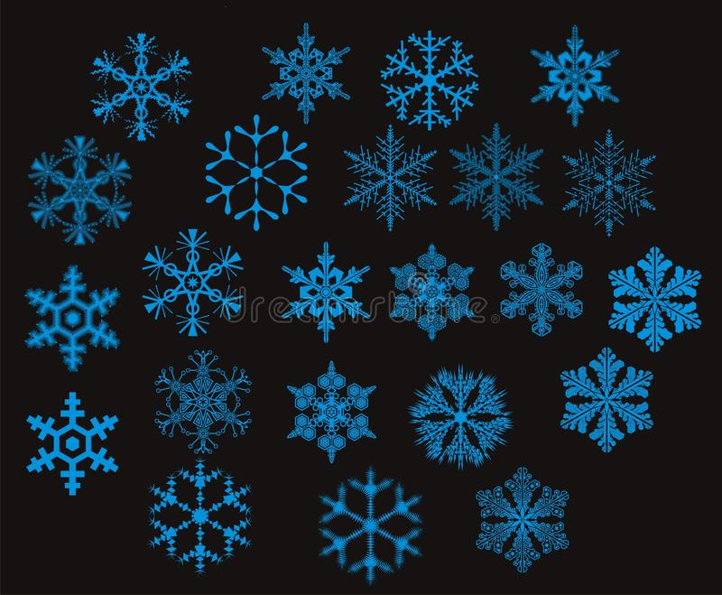 Snowflakes - royalty free stock photos