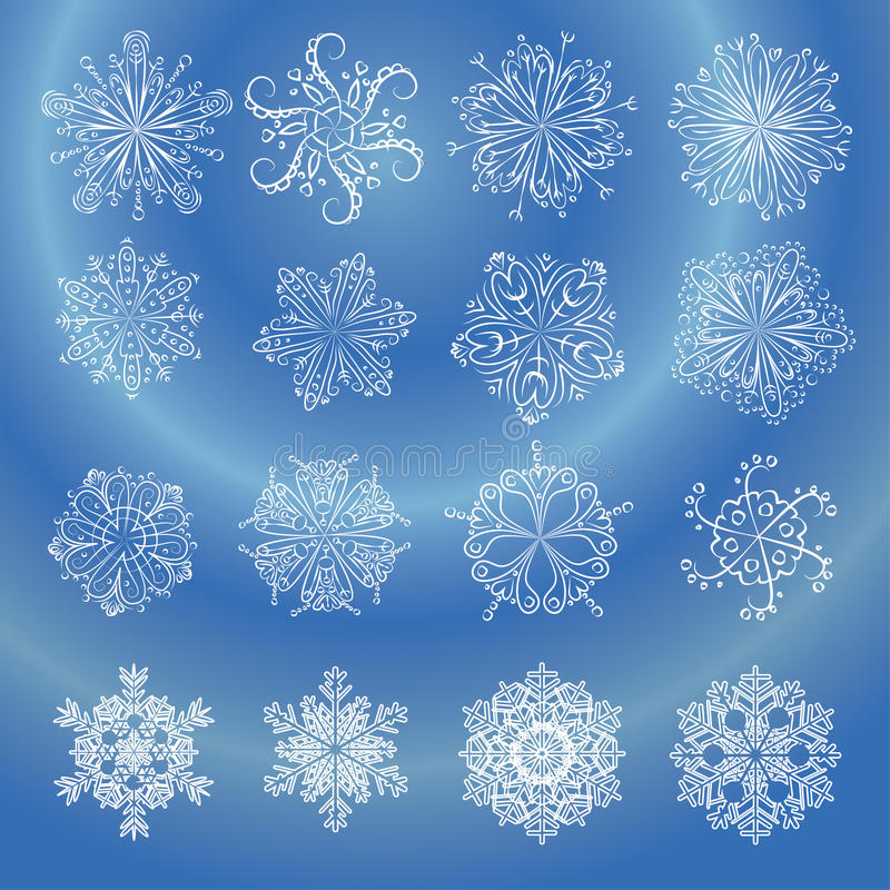 Download Snowflakes stock vector. Image of contour, december, frost - 24792533